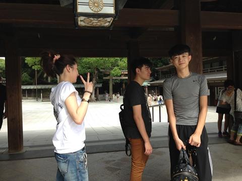 日本留学学生景点浏览